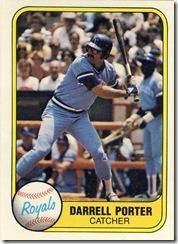 Darrell Porter Fleer 81