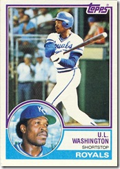U.L. Washington Topps 83