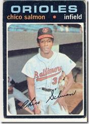 Topps 71 Chico Salmon