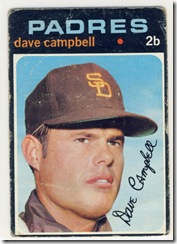 Topps 71 Dave Campbell