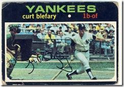 Topps 71 Curt Blefary