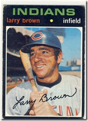 Topps 71 Larry Brown