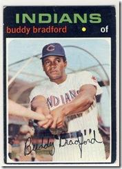Topps 71 Buddy Bradford