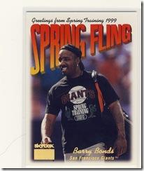 Skybox Spring Fling Barry Bonds
