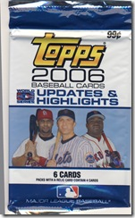 Topps 2006 Updates & Highlights Pack