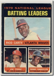 1971 62 NL Batting Leaders