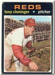 1971 218 Tony Cloninger