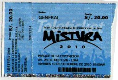 Entrada Mistura 2010