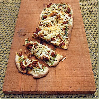 Sausage and Potato Flat Bread with Mustard Greens by Greg of ...