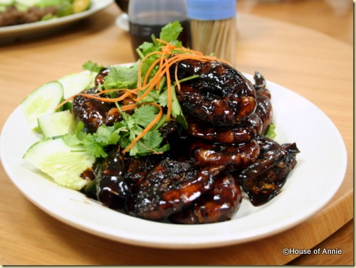 marmite prawns at penang seafood restaurant