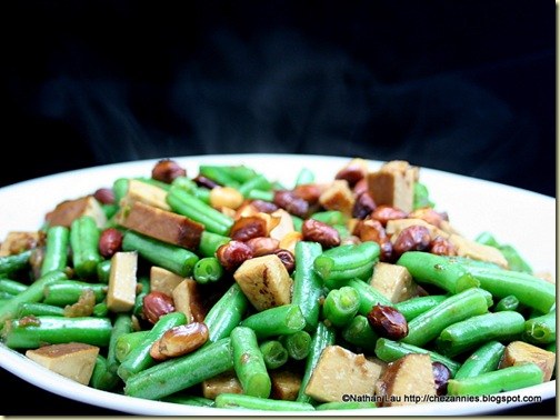 Stir-Fried Green Beans with Savory Tofu and Peanuts