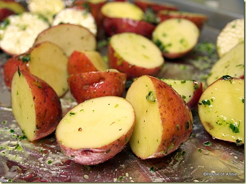 Aioli Potatoes Ready for Roasting