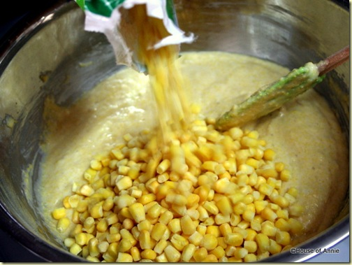 Adding Corn Kernels to Cornbread Batter