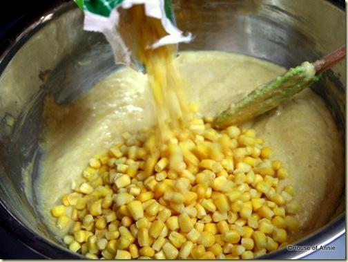 Adding Corn Kernels to Cornbread Batter