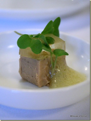 Foie Terrine Amuse at Alexander's Steakhouse