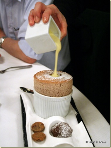 Chocolate Soufflé at Alexander's Steakhouse