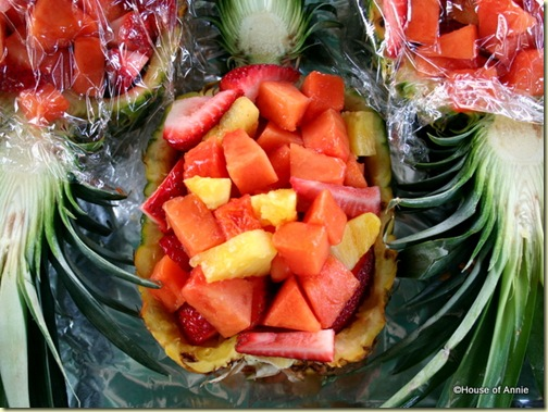 Ultimate Backyard Lu&#8217;au: Tropical Fruit in Pineapple Bowl