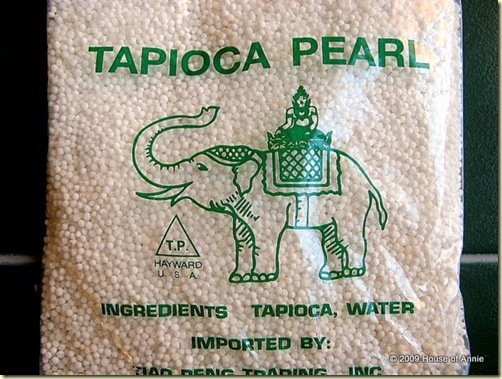 sago tapioca pearls uncooked