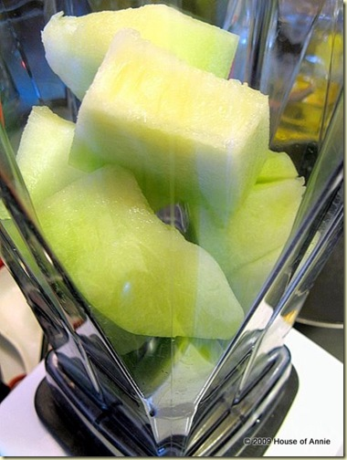 honeydew chunks in blender