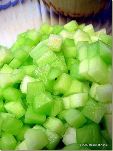 diced honeydew melon