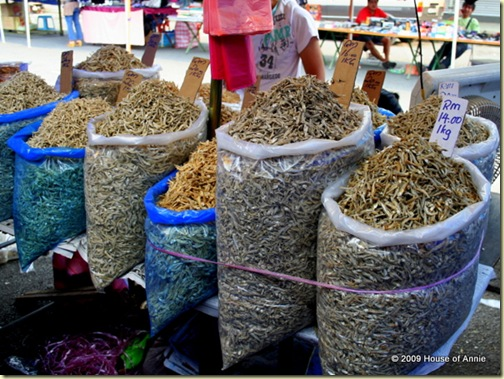 bags of dried anchovies