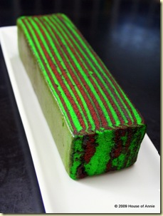 kek lapis nescafe - coffee flavor sarawak layer cake - copyright house of annie