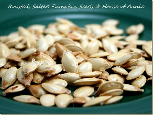 roasted and salted pumpkin seeds