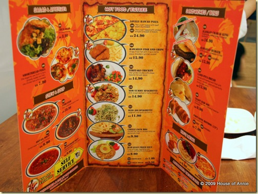 bad ass coffee company food menu tropicana city kuala lumpur malaysia
