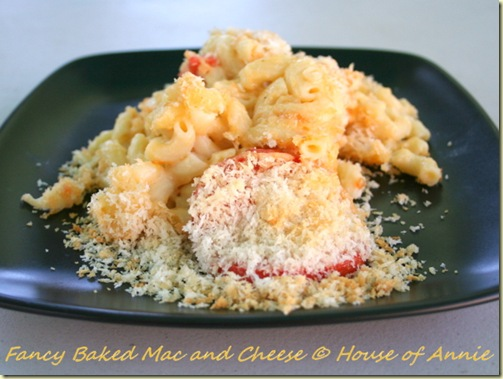fancy baked mac and cheese