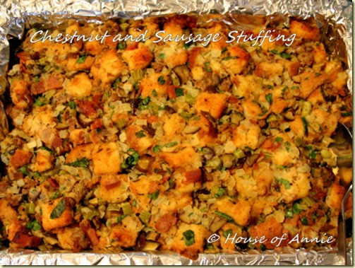 Gourmet Chestnut and Sausage Stuffing Recipe | House of Annie