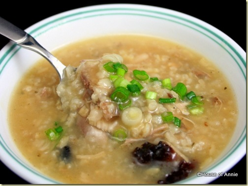 turkey jook closeup