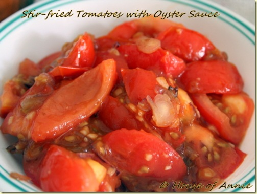 Stir Fried Tomatoes with Oyster Sauce