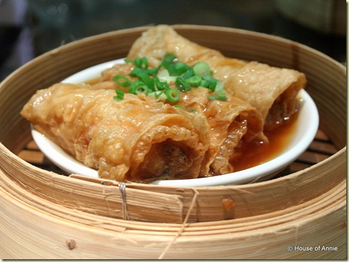 pork in bean curd skin at noble house singapore