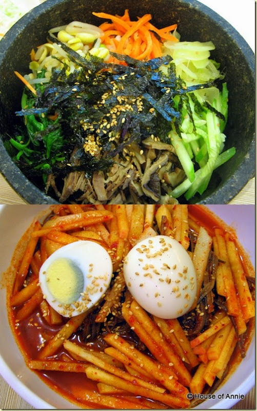 bi bim bap and naeng myun