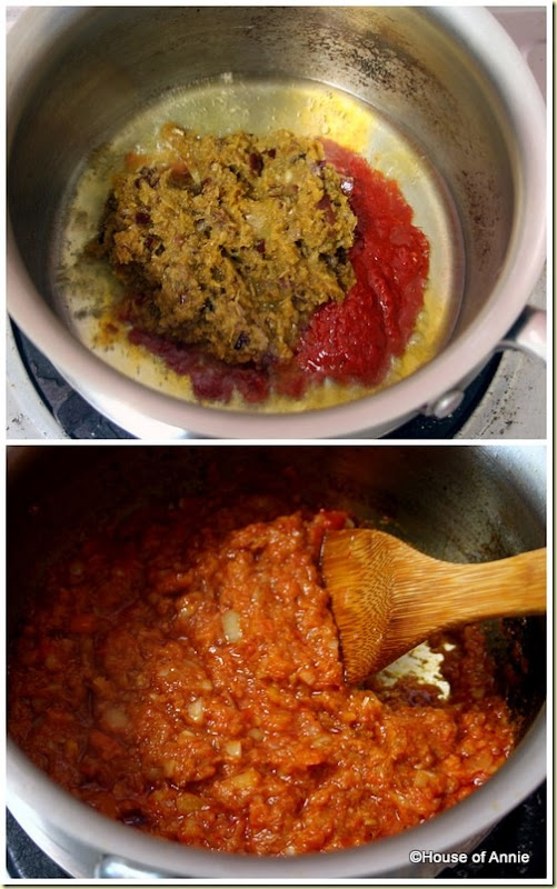 cooking aromatics into ramadan chicken paste