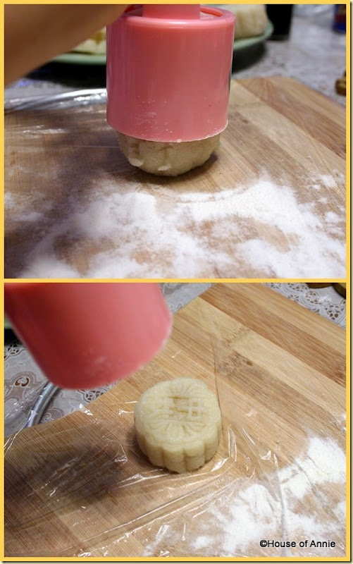 pressing snowskin mooncakes