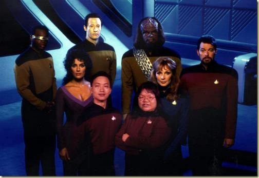 Executive Officers aboard the Enterprise-D
