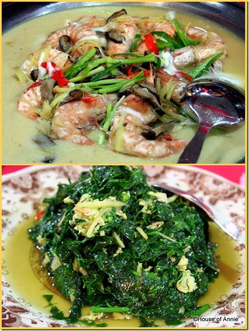 Hung Kiew Kee Restaurant Sarikei steamed prawns mani chai cankuk manis