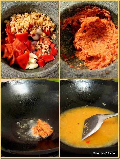 spice paste for daikon radish in coconut milk