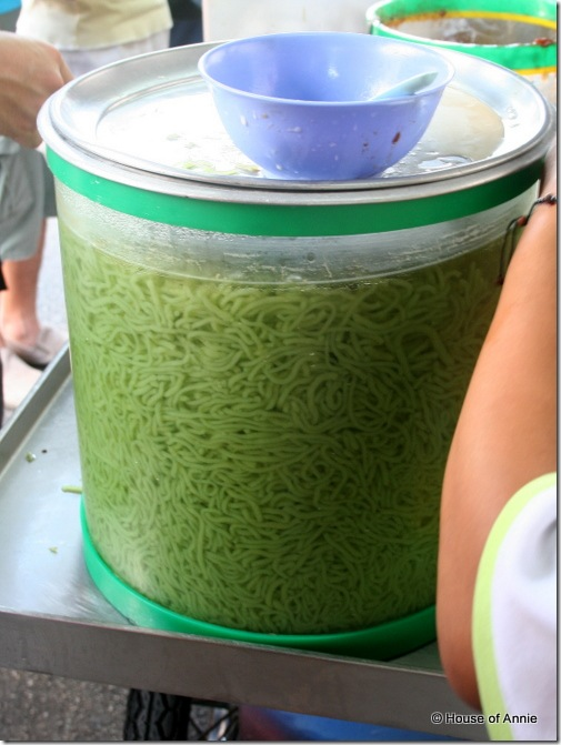 Tub of Cendol at Penang Road stall