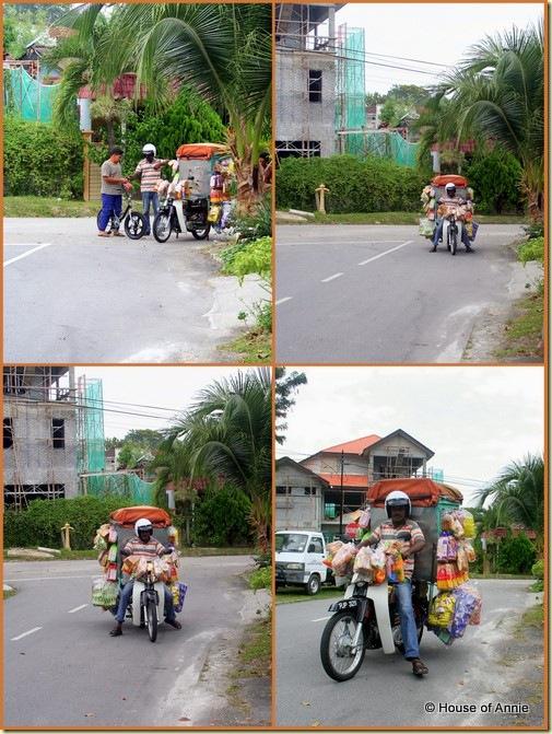 Motorcycle roti bread man Penang