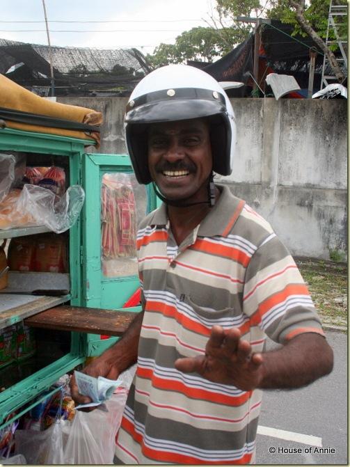 Motorbike roti man in Penang
