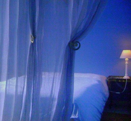 chambre couleur bleue