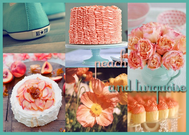 Peach and Turquoise