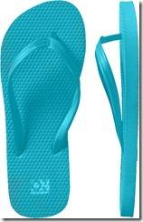 flip flops- turquoise