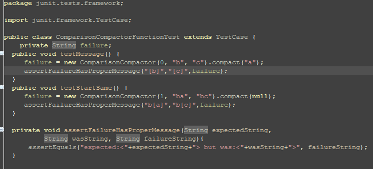 "assertFailureHasProperMessage(""[b]"",""[c]"",failure);"