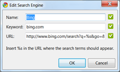 Chrome -Bing