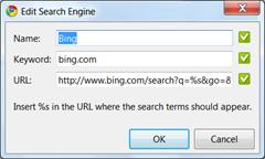 Chrome -Bing