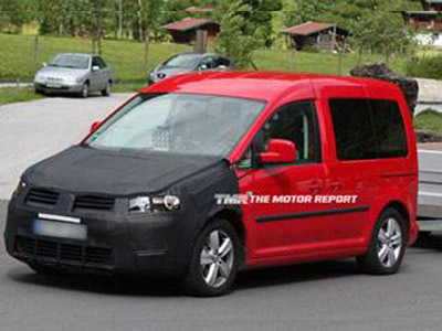 Volkswagen conducts tests new Caddy 2010