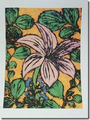 8th grade female student/tempera batik painting